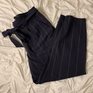 Express paper bag ankle dress pants
